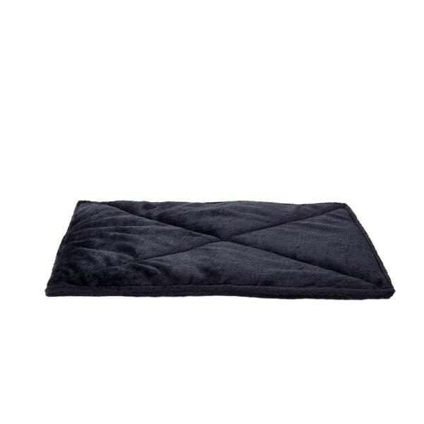 Black FurHaven ThermaNAP Faux Fur Self-Warming Pet Mat