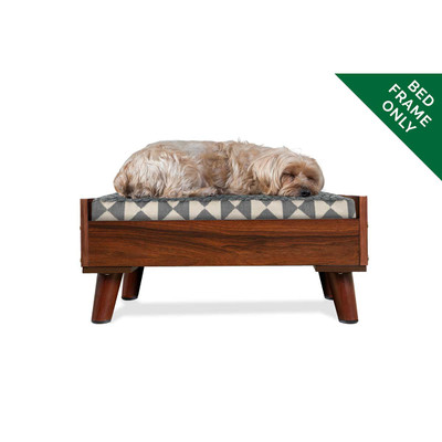 Small Walnut FurHaven Dog Bed Frame