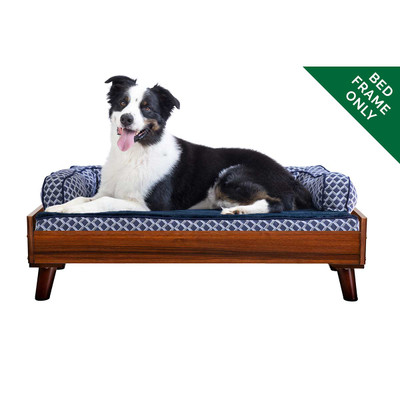 Walnut Large FurHaven Dog Bed Frame