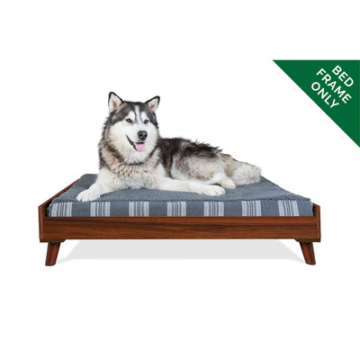 XL Walnut FurHaven Dog Bed Frame