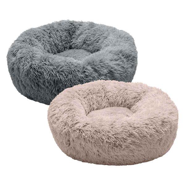 FurHaven Faux Fur Donut Bed