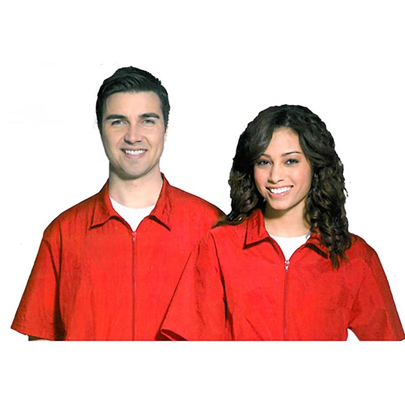 Medium Red Fromm Unisex Barber/Groomer Jacket for Professionals