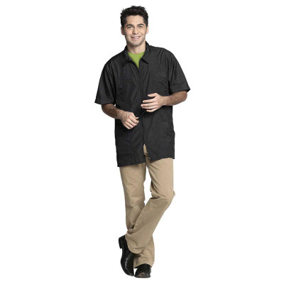 Medium Black Fromm Unisex Jacket for Professional Groomers and Barbers
