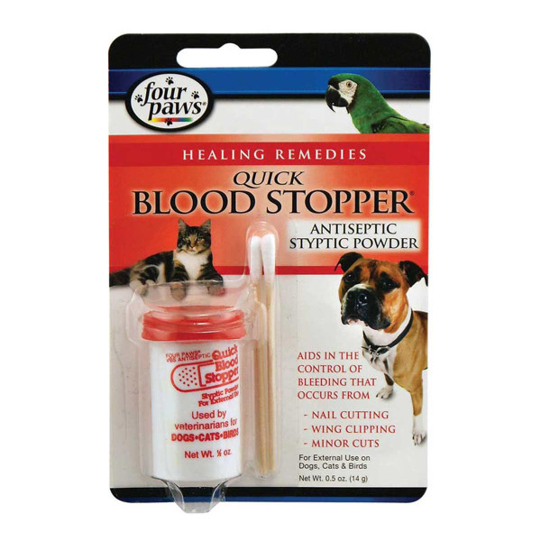 Four Paw Quick Blood Stopper Antiseptic Styptic Powder - .5 oz