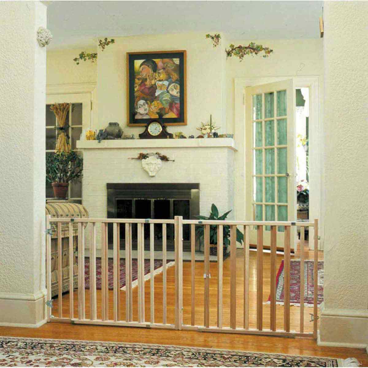Four Paws Extra Wide Wood Safety Gate for Dogs
