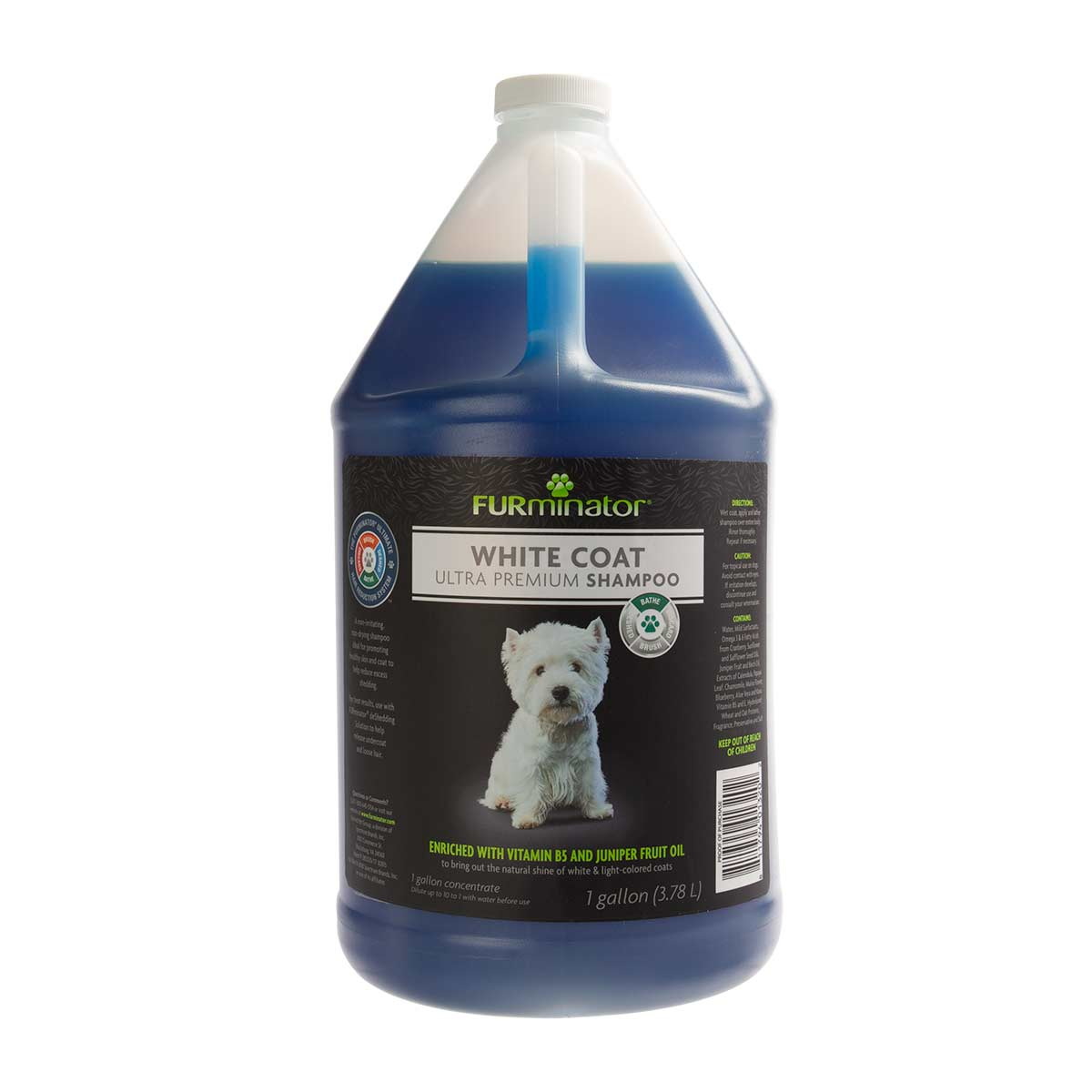 Furminator White Coat Ultra Premium Shampoo for Dogs - Gallon Concentrated 10:1