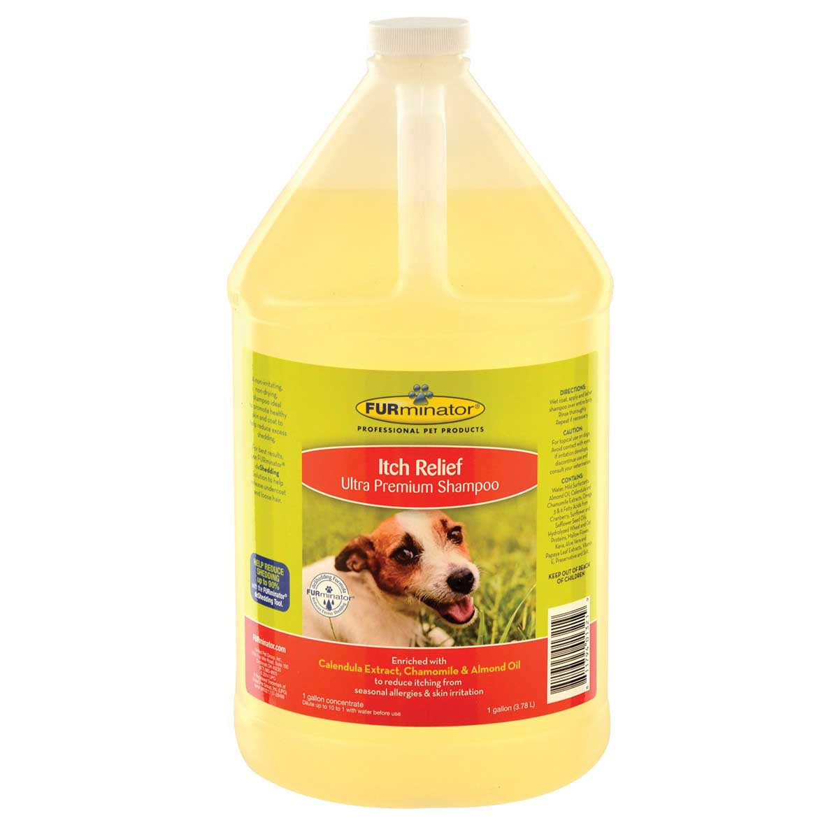Concentrated 10 to 1 Gallon of Furminator Itch Relief Ultra Premium Shampoo