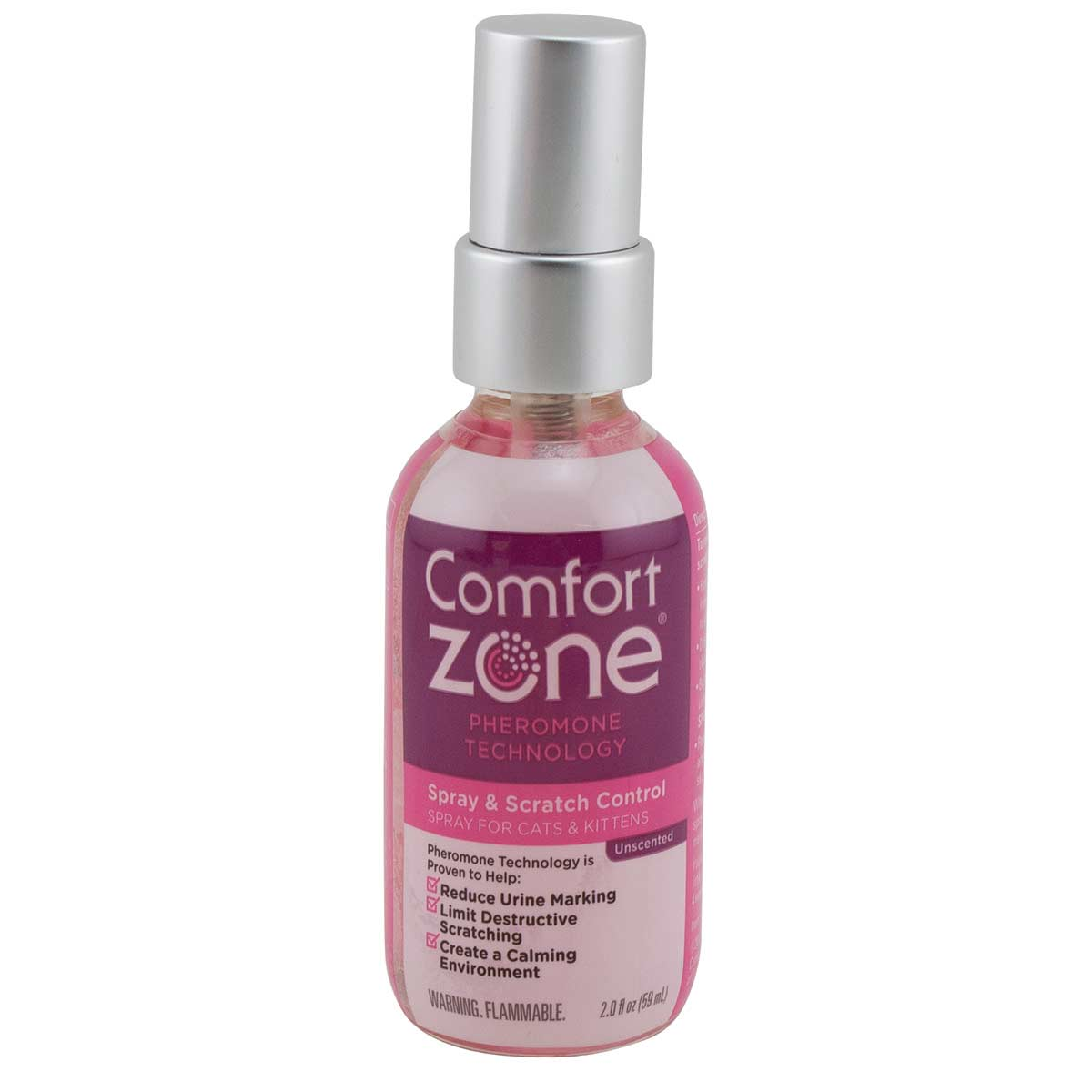 Comfort Zone Calming Spray and Scratch 2 oz available at Ryan's Pet Supplies