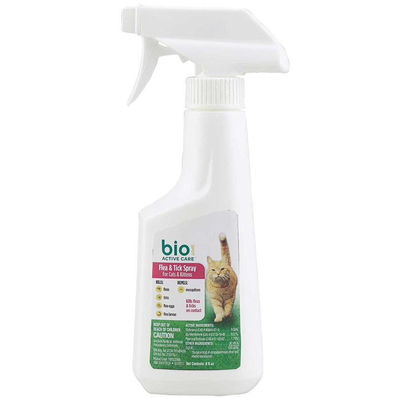 Bio Spot Active Care Flea and Tick Spray Cats and Kittens 8 oz