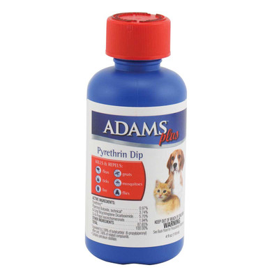 Adams Plus Pyrethrin Dip 4 oz - Kills Fleas and Ticks