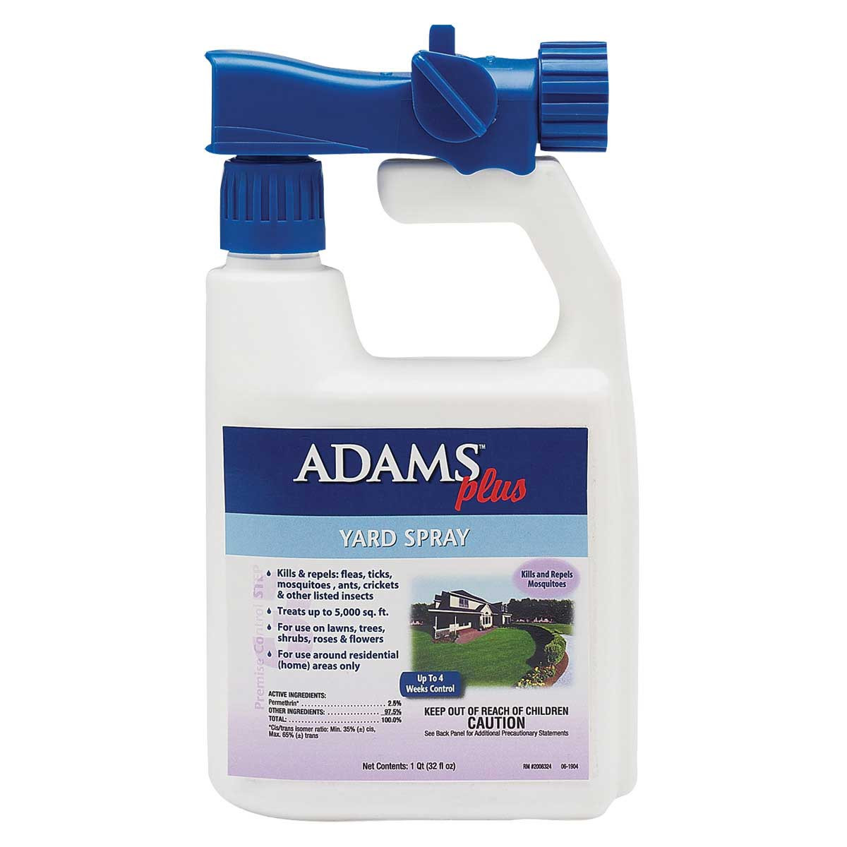 Adams Plus Yard Spray with Sprayer 32 oz - Kills and Repels Mosquitoes