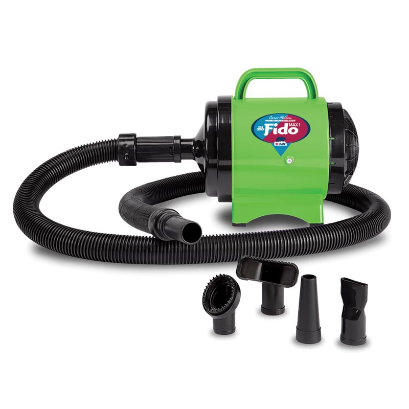 B-Air Cesar Milan Fido MAX 1 Pet Dryer 2HP 2 Speed Lime Green