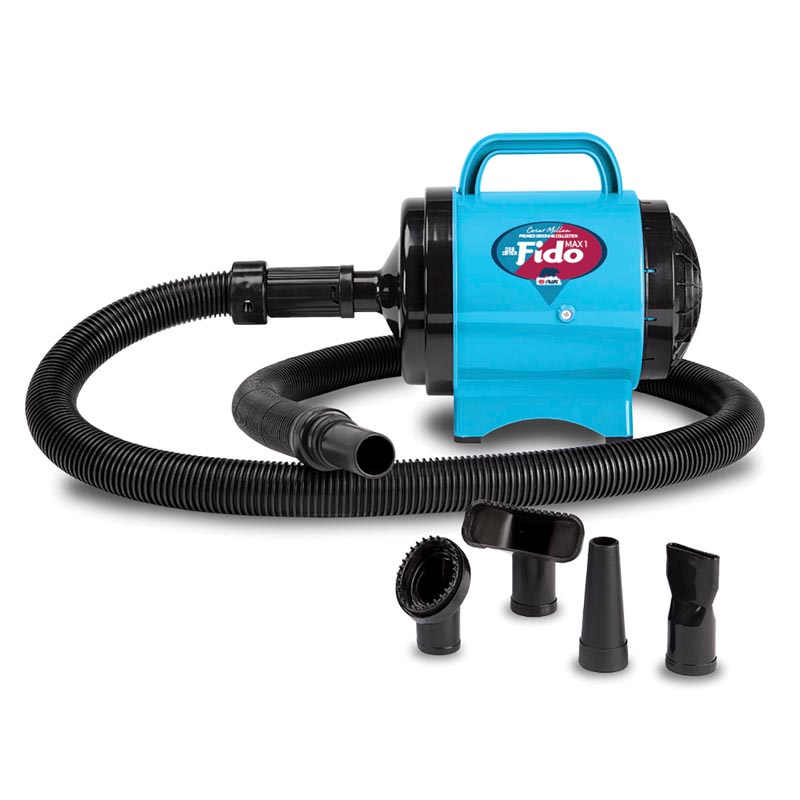 Turquoise B-Air Cesar Milan Fido MAX 1 Pet Dryer - 2 HP 2 Speed - for Professional Groomers