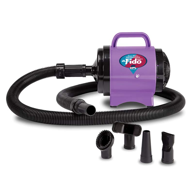 Professional Groomer B-Air Cesar Milan Fido MAX Purple Ribbon Pet Dryer 2HP 2 Speed