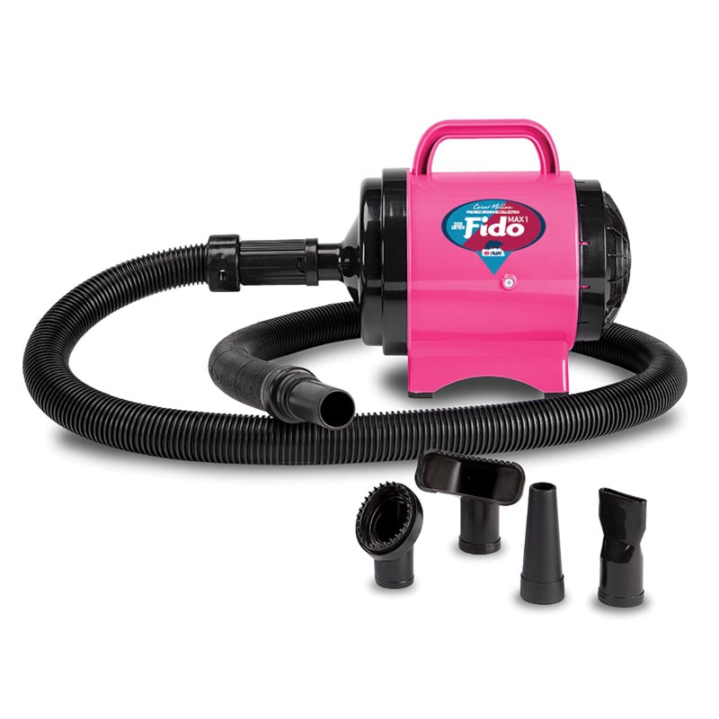 Hot Pink B-Air Cesar Milan Fido MAX 2 HP 2 Speed Pet Dryer for Professional Groomers at Ryan's Pet Supplies