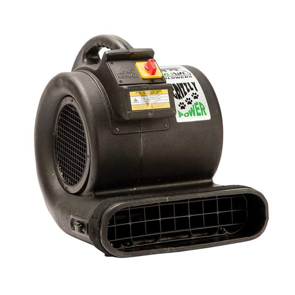 Professional Grooming Black Grizzly B-Air Dryer Blower ETL - Cage Dryers