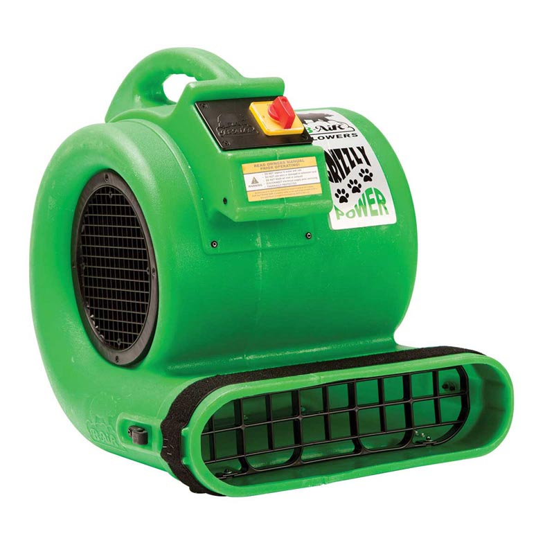 Professional Green Grizzly Power B-Air Dryer for Cages - ETL