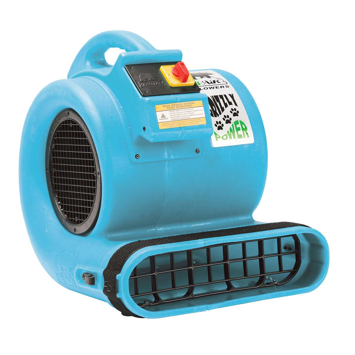 ETL Turquoise Grizzly B-Air Professional Grooming Cage Dryer at Ryan's Pet Supplies