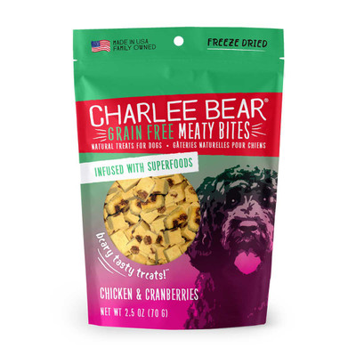 Chicken and Cranberries 2.5 oz Charlee Bear Meaty Bites Dog Treats