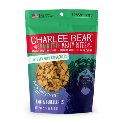 Lamb and Blueberries Charlee Bear Meaty Bites Dog Treats 2.5 oz