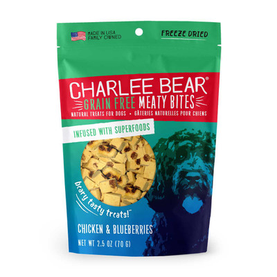 Chicken and Blueberries 2.5 oz Charlee Bear Meaty Bites Treats Dog Treats
