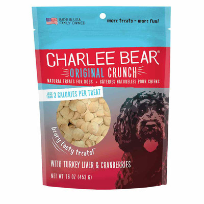 Turkey Liver and Cranberries Charlee Bear Original Crunch Dog Treats 16 oz