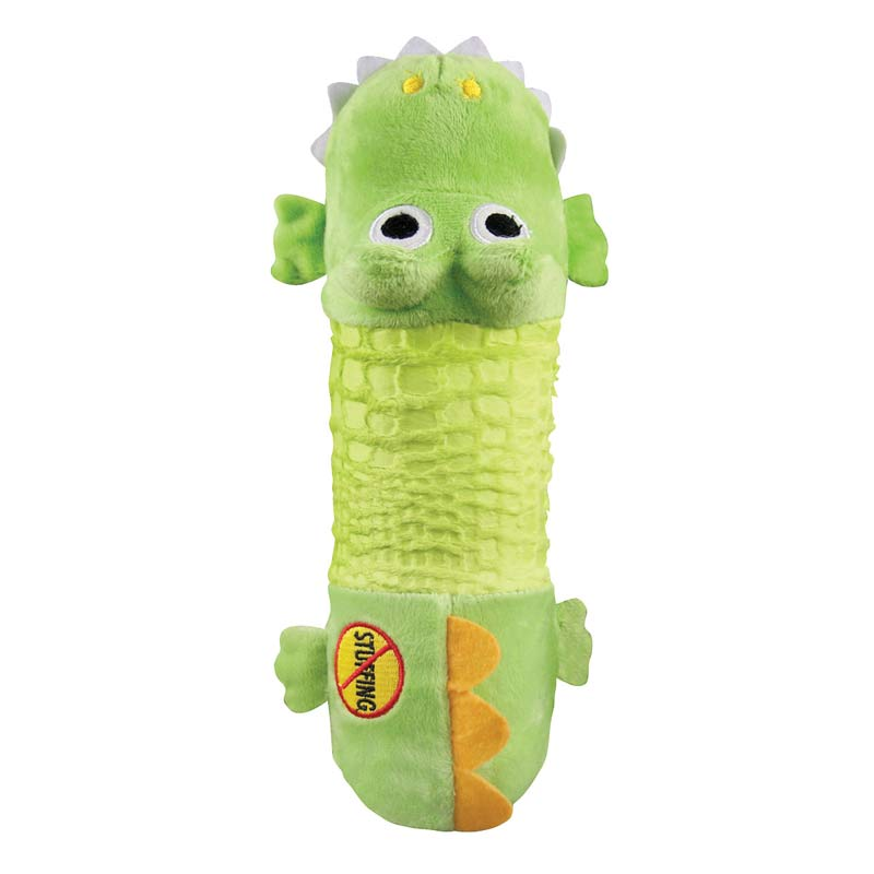 Outward Hound Stuffing-Free Big Squeak Gator Dog Toy - No Stuffing