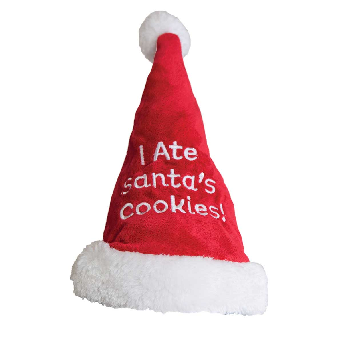 "Outward Hound ""I Ate Santa's Cookies"" Large Santa Hat for Dogs"
