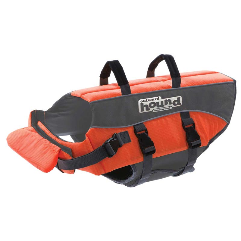 Orange Outward Hound Dog Life Jacket - Size Large 26-35 inches