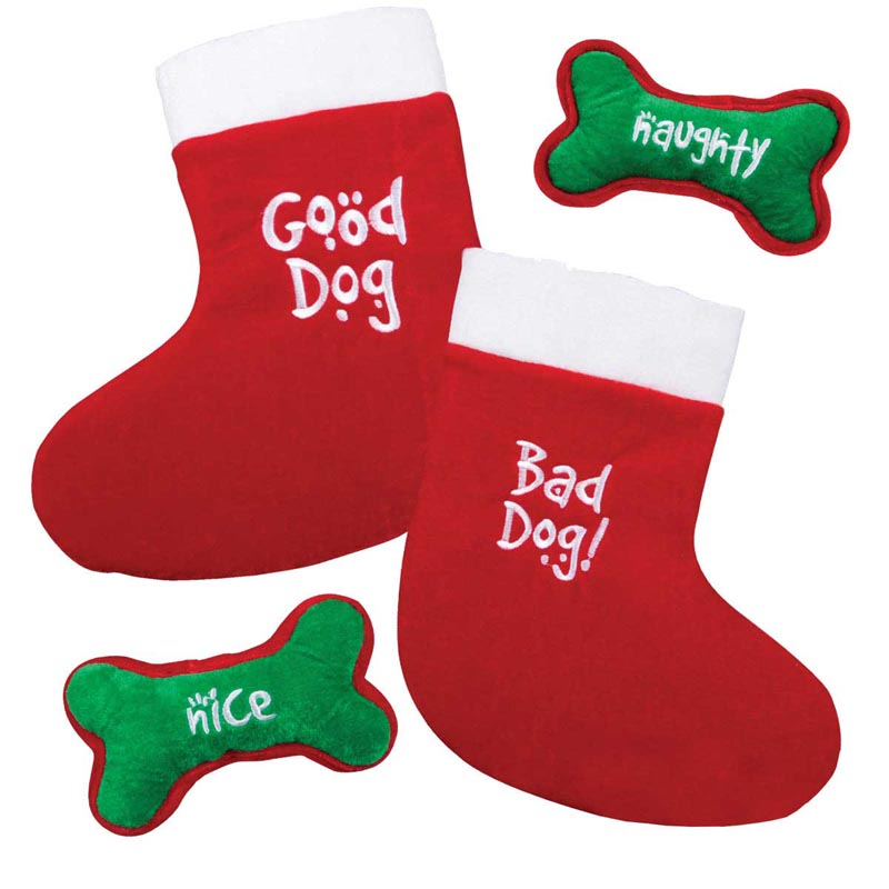 Outward Hound Good/Bad Dog Stocking and Bone