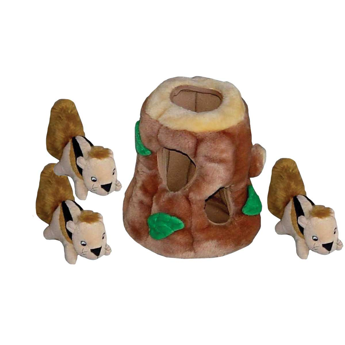 Outward Hound Hide-A-Squirrel Jumbo Puzzle Toy for Medium and Large Dogs