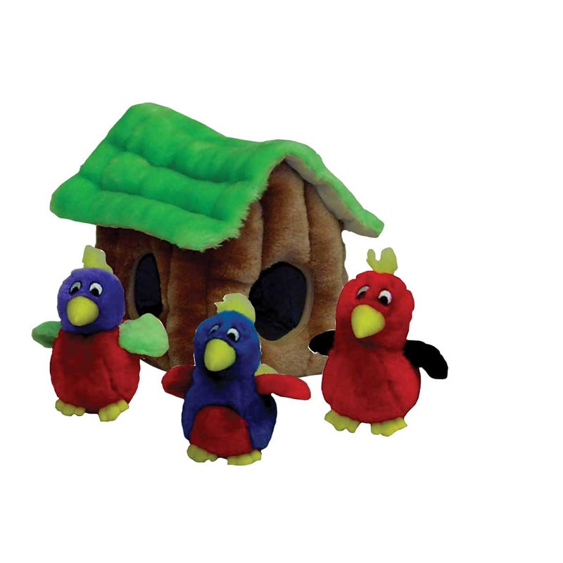 Outward Hound Puzzle Plush Hide A Bird Interactive Toy for Dogs