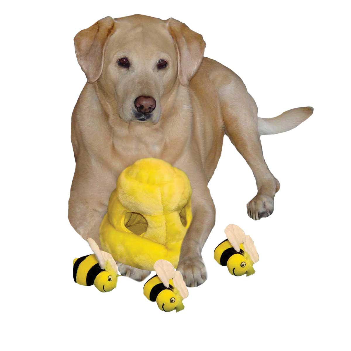 Outward Hound Puzzle Plush Hide A Bee Dog Toy