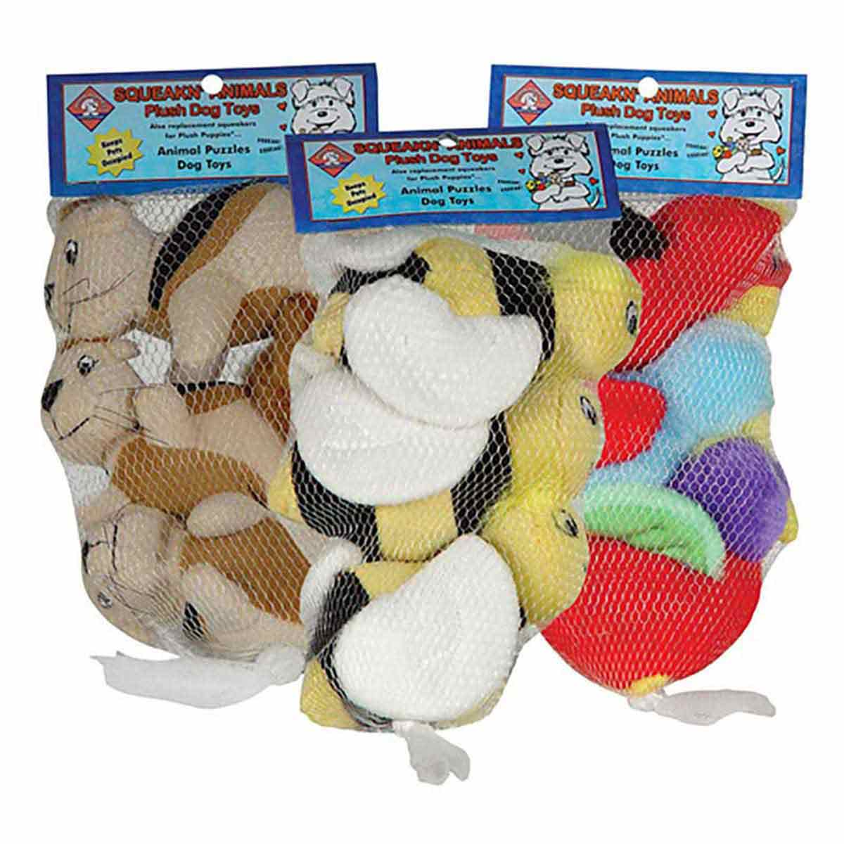 Outward Hound Squeakin' Animals 3 Pack Bees for Puzzle Dog Toys