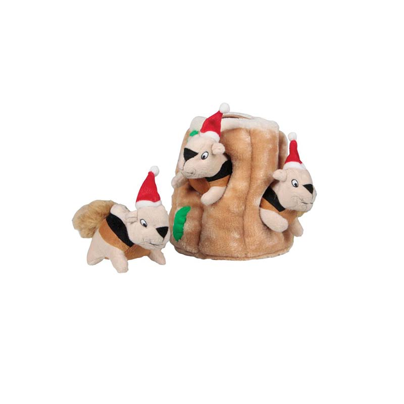 Medium Outward Hound Holiday Hide-A-Squirrel Dog Toy at Ryan's Pet Supplies