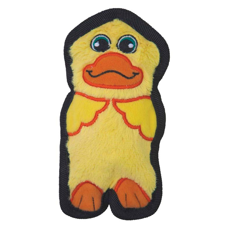 Outward Hound Kyjen Invincibles Mini Duck Dog Toy for Heavy Chewers