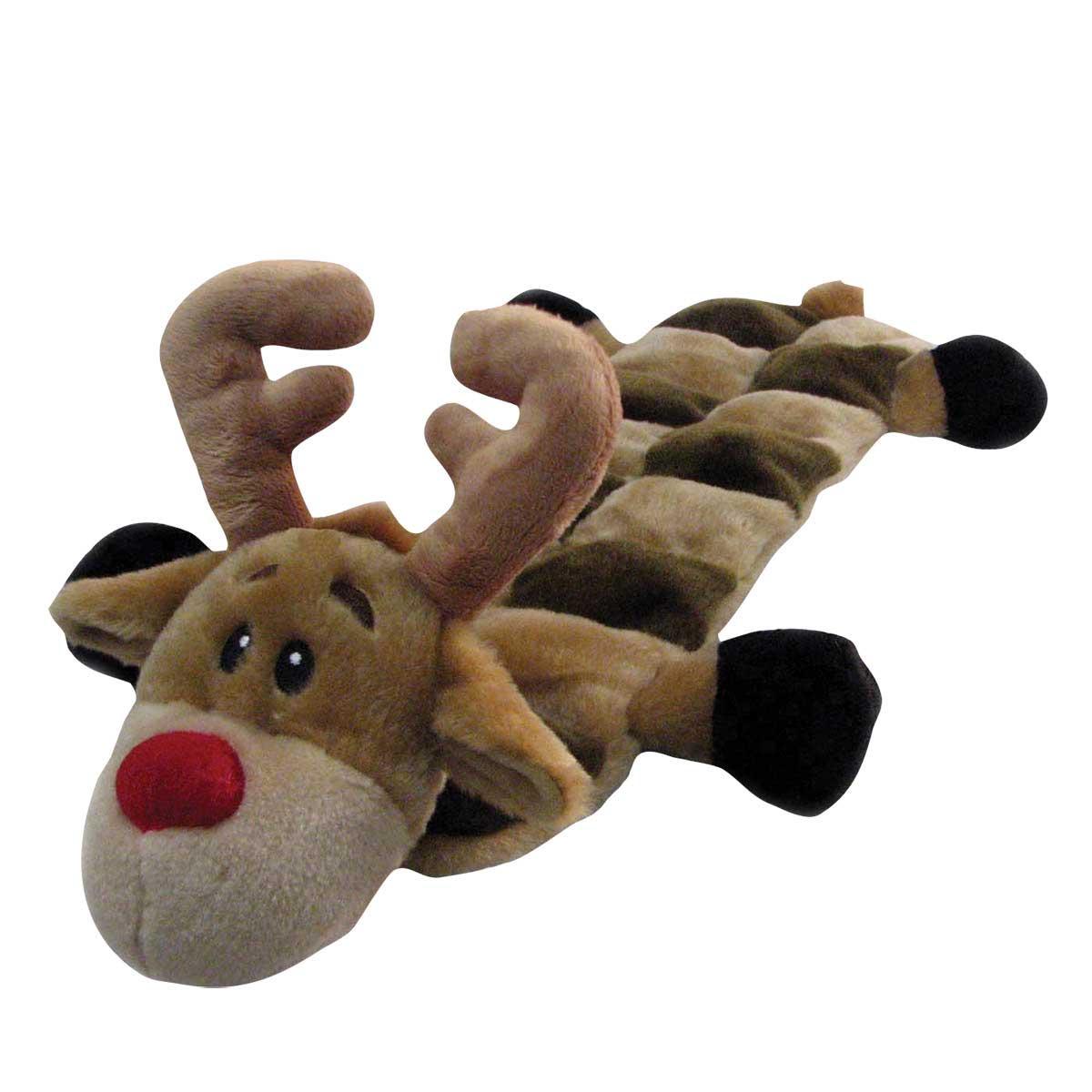 Outward Hound Squeaker Mat Reindeer Long Body Dog Toy