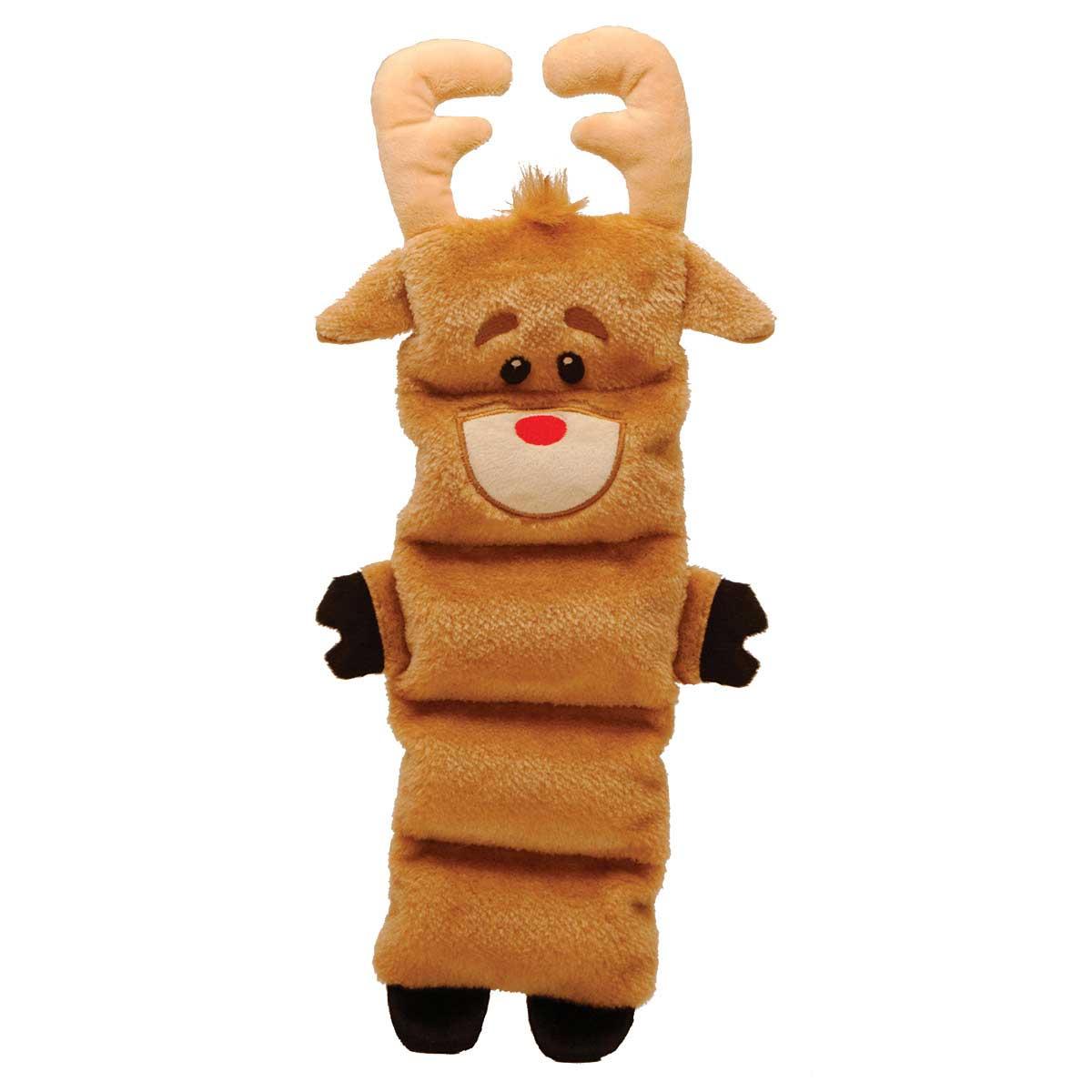 Outward Hound Holiday Invincibles Reindeer Dog Toy