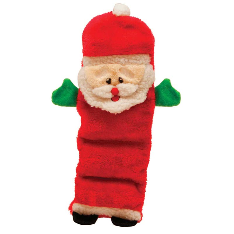 Outward Hound Holiday Invincibles Santa Toy for Dog