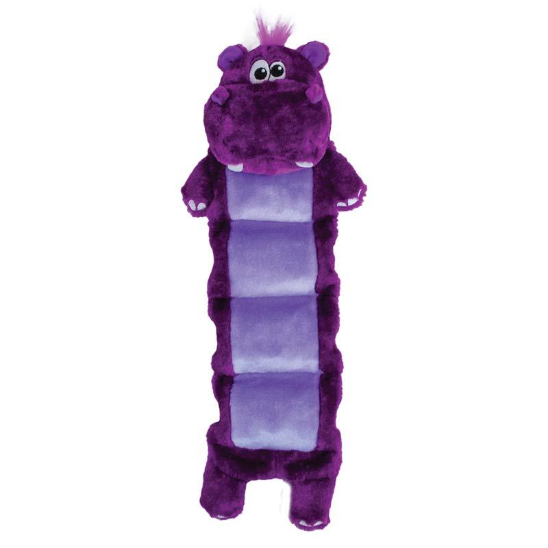 Outward Hound Squeaker Palz Hippo Dog Toy