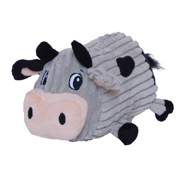 Outward Hound Fattiez Cow Stuffed Dog Toy
