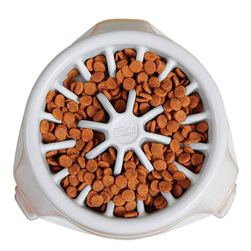 View from Above Outward Hound 3 In 1 Up Feeder Plastic White - Slow Feeder