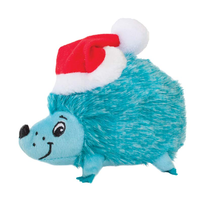 Outward Hound Holiday Heggie Small Blue - Squeaker Toy for Dogs
