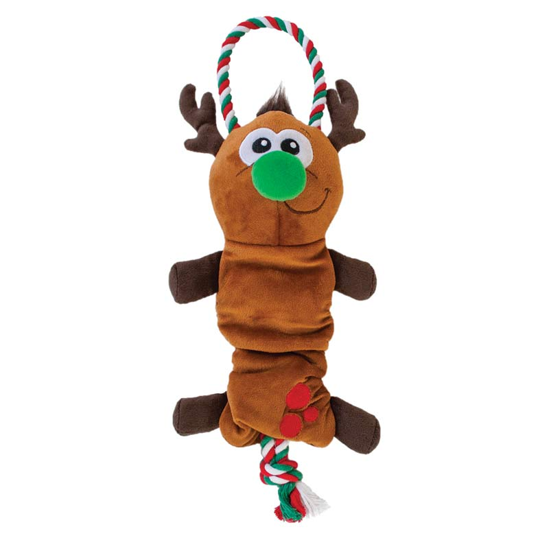 Outward Hound Flingerz Reindeer Tug Toy for Medium Dogs