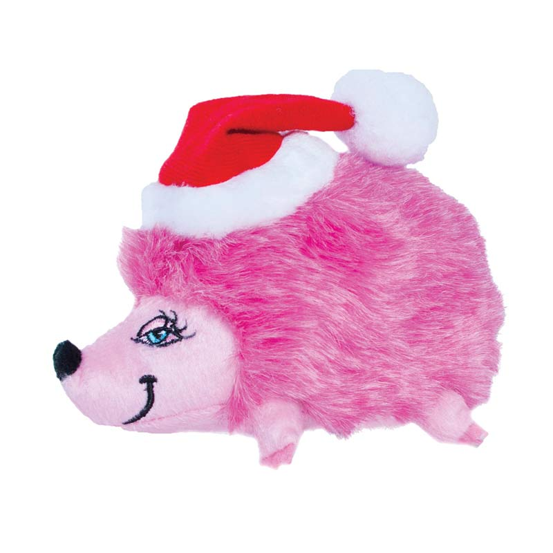 Squeaking Outward Hound Small Pink Holiday Heggie for Dogs