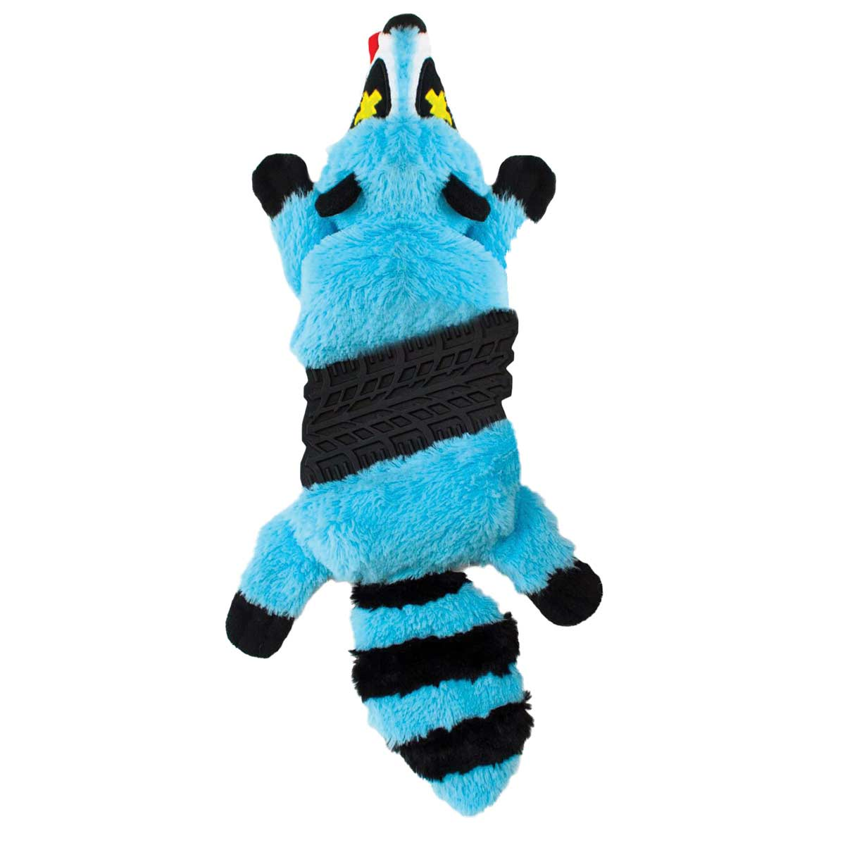 "Outward Hound Invincibles Roadkillz Racoon Blue 20"" - Low Stuffing Dog Toy"