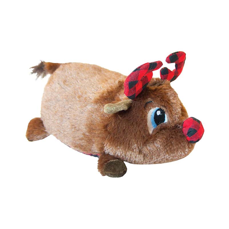 Large Outward Hound Fatties Holiday Reindeer Dog Toy at Ryan's Pet Supplies