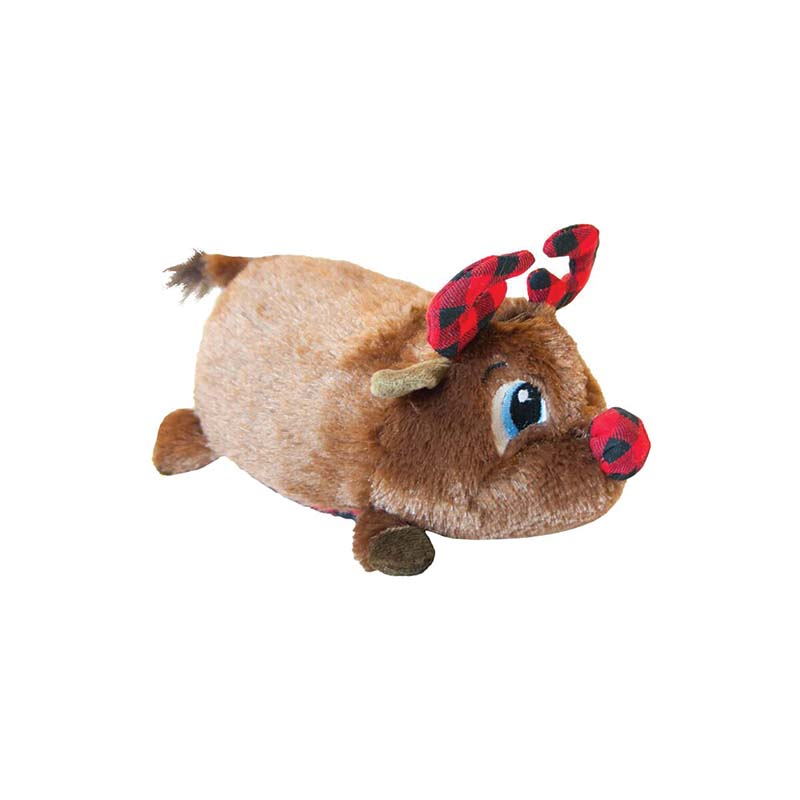 Small Outward Hound Fatties Holiday Reindeer Dog Toy at Ryan's Pet Supplies