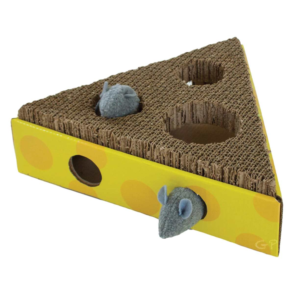 Outward Hound Scratch and Hunt Cheese Wedge Cat Toy