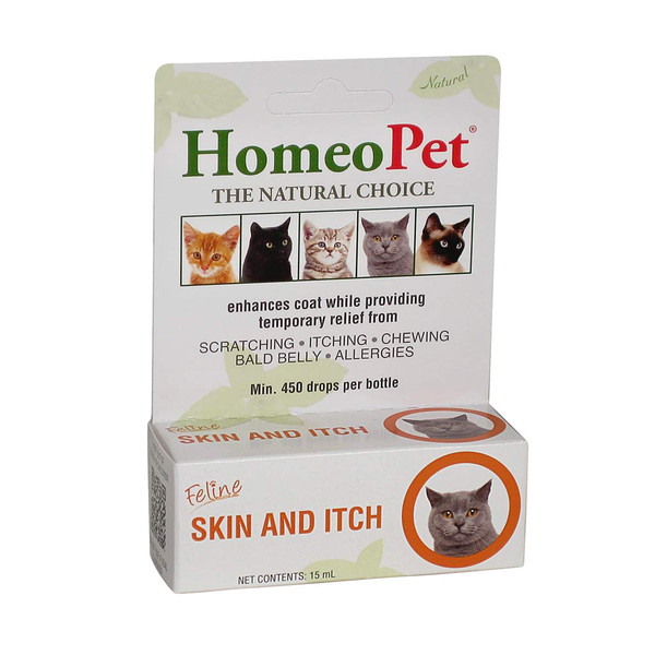 HomeoPet Feline Skin and Itch Supplement for Cats
